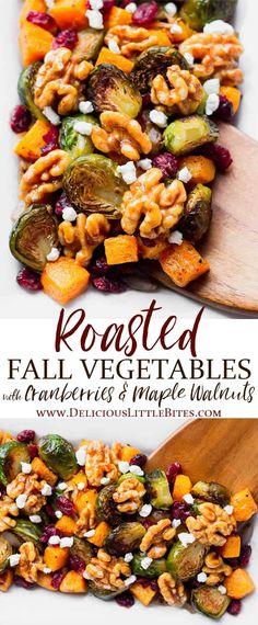 Roasted Fall Vegetables, Thanksgiving Vegetables, Vegetarian Thanksgiving, Veggies, Vegetable Thanksgiving Side Dishes, Fall Vegetarian Recipes, Healthy Fall Recipes, Thanksgiving Dinner Sides, Dinner Vegetables