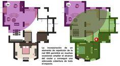 No siempre conseguimos una transmisión adecuada de la señal inalámbrica en todas las estancias de nuestra casa. Un repaso a las soluciones. Sem Internet, Wifi, Floor Plans, Diagram, Blog, Home, Blogging, Floor Plan Drawing, House Floor Plans