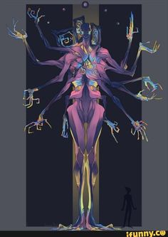 Bismuth, the Primordial Fusion Commission for. Fantasy Character Design, Character Design Inspiration, Character Art, Monster Concept Art, Monster Art, Fantasy Creatures, Mythical Creatures, Gato Anime, Monster Design