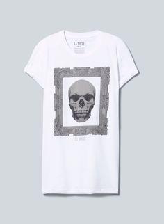 La Notte Marcello T-Shirt, now available at Aritzia.com. #skull