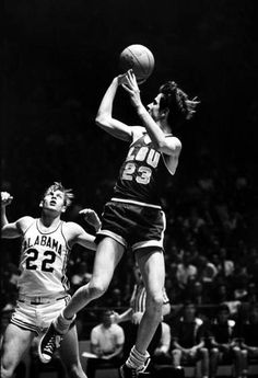 Pistol Pete Maravich, offensive basketball sensation played with LSU. Pistol Pete, Oscar Robertson, Magic Johnson, Jack Purcell, Larry Bird, Nba Players, Basketball Players, Basketball Photos, Converse All Star