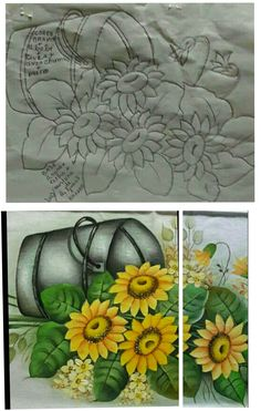 Fabric Painting, Painting & Drawing, Outline, Hand Embroidery, Folk Art, Beautiful Flowers, Art Decor, Gift Wrapping, Diy Crafts