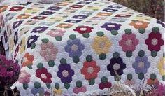 Floral Hexagonal Bedspread Crochet pattern mini motifs join as you go Hexagon Crochet Pattern, Hexagon Patchwork, Crochet Quilt, Hexagon Quilt, Tunisian Crochet, Afghan Crochet Patterns, Crochet Squares, Crochet Motif, Manta Crochet