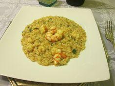 Culinaria  direto da Italia: Risoto de camarão e abobrinha