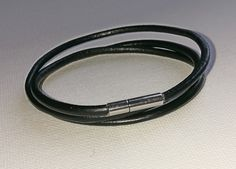 Pandora-style leather wrap charm bracelet by BohoBoutiquex on Etsy