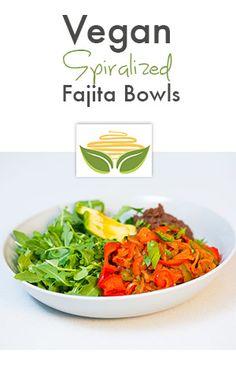vegan spiralized fajita bowl