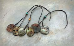 rockpool discs I ..beads by greybirdstudio on Etsy