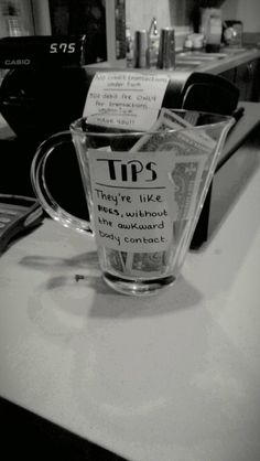 This realization. 27 Tip Jars That Are Too Clever To Resist Funny Tip Jars, Funny Tips, Funny Memes, Spa, Tips Instagram, Pots, Tips Fitness, Make It Rain, Grand Opening
