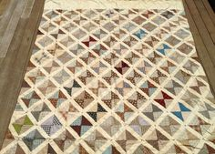Quilt Vintage Antique Browns and Blues Very RARE | eBay, muffy4me