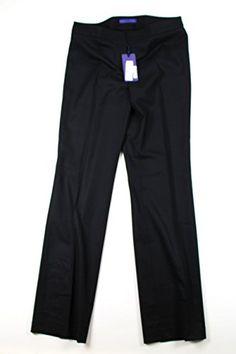 Les Copains Womens Dress Pants Size 34 US  48 EU Regular Blue Virgin Wool ** Click image for more details.