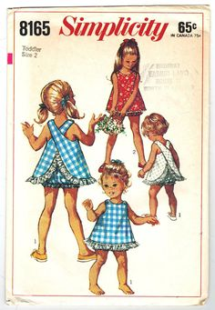Simplicity 8165 Vintage 60s Adorable Toddler by PatternPlaying