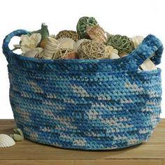 Oceanic Crochet Basket   AllFreeCrochet.com