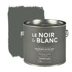 Le Noir & Blanc muurverf extra mat charleston grey 2