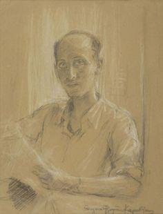 Portrait of Yannis Tsarouchis  -  Thalia Flora-Karavia