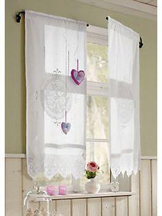 gardine romantik mit bindeb ndern deko und ferienh uschen. Black Bedroom Furniture Sets. Home Design Ideas