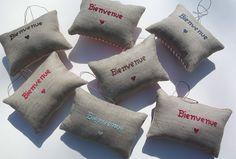 French Sayings Door Hanger Pillows
