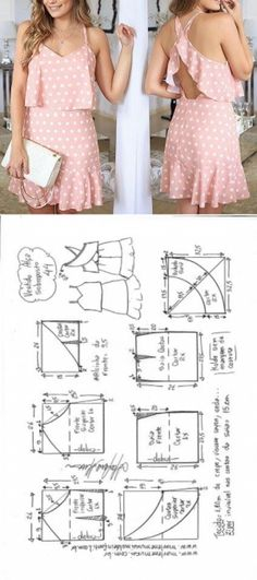 Sewing dress patterns diy New ideas Sewing Dress, Dress Sewing Patterns, Diy Dress, Sewing Patterns Free, Sewing Clothes, Clothing Patterns, Sewing Diy, Free Pattern, Skirt Patterns