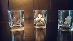 Robert Emmet Co 3 Pewter Irish Symbol Shot Glasses Emblems Shamrock Harp Ireland #RobertEmmetCo