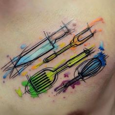 Tatuajes para Chef o Amantes de la Cocina