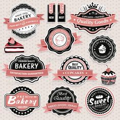 vintage bakery badge logos