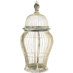Melrose International Rustic Wire Decorative Bird Cage