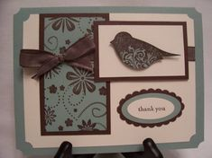 Punch Potpourri FS249 Chocolate, Sage & Vanilla Thank You by RDey - Cards and Paper Crafts at Splitcoaststampers