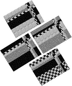 """""""Take Four"""" Placemats Pattern (downloadable, beginner)"""