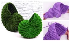 Spiral Shell Free Crochet Patterns + Video - DIY Magazine - Spiral Shell Free Crochet Patterns + Video Best Picture For crafts for kids For Your Taste You ar - Crochet Fish, Crochet Faces, Crochet Gifts, Crochet Yarn, Easy Crochet, Crochet Flowers, Crochet Toys, Crochet Stitches, Free Crochet