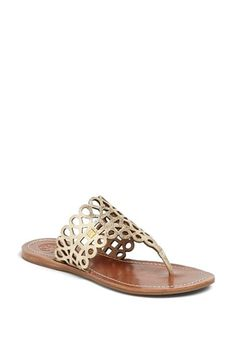 Free shipping and returns on Tory Burch 'Davy' Sandal at Nordstrom.com. Lustrous leather loops form the upper of a breezy sandal that looks great with casual and preppy outfits.