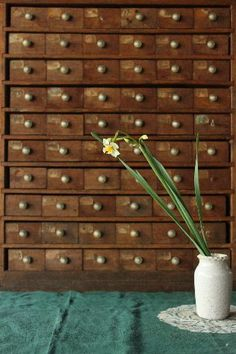 I am so in love with all of these little cubbies for the home :) on a mission to find an old index filing cabinet
