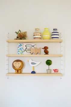 Decor Crafts, Home Decor, Floating Shelves, String Pocket, Interior, Room, Bedroom, Decoration Home, Room Decor