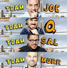 #Impractical jokers I am going to be #teamQ and #teamJoe because Joe is fearless.