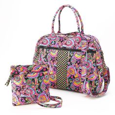 NWT Girls/Teens Paisley Quilted Duffel Bag & Crossbody Bag 2 Piece Set #Unbranded