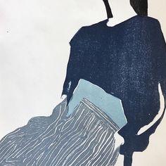 Inspiration by @_ren_gouin #monoprint #linocut #artwork #artist