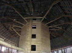 The inside of a round barn!!