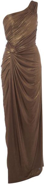 Asymmetric One Shoulder Maxi Dress