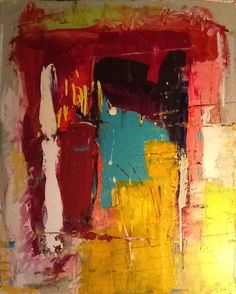 Abstract painting by W Joe Adams 24X30.  SOLD