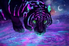 beautiful animal art Eyes is part of These Animals Have The Most Beautiful And Unusual Eyes On - This Tiger Art looks Awesome! Tiger Wallpaper, Animal Wallpaper, Eyes Wallpaper, Cute Animal Drawings, Cute Drawings, Fantasy Kunst, Fantasy Art, Fantasy Paintings, Fantasy Creatures