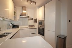 Small handleless white kitchen  #small #handleless #white #kitchen