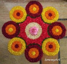 Rangoli Designs Latest, Rangoli Designs Flower, Small Rangoli Design, Colorful Rangoli Designs, Rangoli Patterns, Rangoli Designs Images, Rangoli Ideas, Rangoli Designs Diwali, Diwali Rangoli