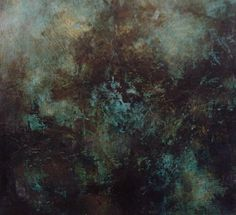 Where the Faeries Speak I, oil and mixed media on cradled board, Mary Mendla © 2014