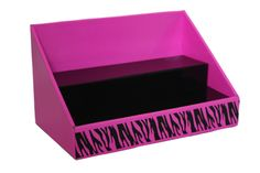 Cardboard Counter Display - Pink and Black - Black Zebra Design – Stack Displays