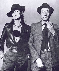 BOWIE & BURROUGHS. SPECIFICALLY COOL COS BOWIE IS WEARING A CLOCKWORK ORANGE T-SHIRT. MEGA.