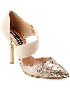 "STEVEN by Steve Madden ""Beautii"" Lizard-Embossed Pointy-Toe Pump"
