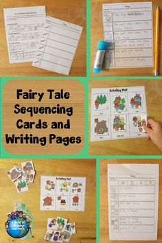 Use sequencing cards to retell popular fairy tales. Also comes with graphic organizers, and writing pages. Great for ELL students and struggling writers. #graphicorgnaizer #sequencing #fairytales #speaking #writing #writinginspiration #esl #esol #tpt #teacherspayteachers #teachersofinstagram #teachercreated