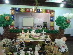 Decoração fazendinha #fazendinha #festa #decoração #decoraçãocombexiga