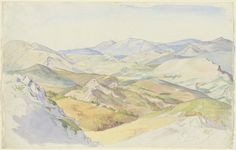 Ludwig Deurer, 'The Sabine Hills and Rocca Santo Stefano Seen from Civitella,' 1835, National Gallery of Art, Washington D.C.