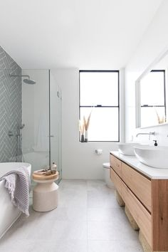 10 Small Bathroom Ideas Photo Gallery 2020 Bathroom Design Many people are now using online bathroom remodel photo galleries to find photos of their bathrooms before anything is done. People today want a bathr. Bathroom Windows, Wood Bathroom, Grey Bathrooms, Bathroom Flooring, Small Bathroom, Bathroom Ideas, Tile Flooring, Bathroom Faucets, Grey Floor Tiles Bathroom