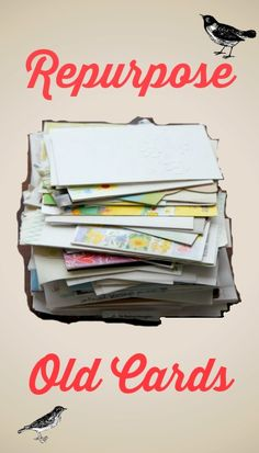 what to do with old greeting cards