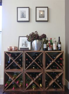 # diy wine rack plans Creative DIY Wine Rack Wall Decor Ideas for Your Home, Office or Bar Wine Rack Design, Palette Deco, Wine Rack Wall, Diy Wine Racks, Wine Wall, Build A Wine Rack, Metal Wine Racks, Ikea Wine Rack, Wine Rack Shelf